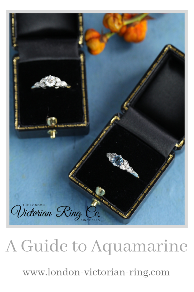 A Guide to Aquamarine - Pinterest - London Victorian Ring UK