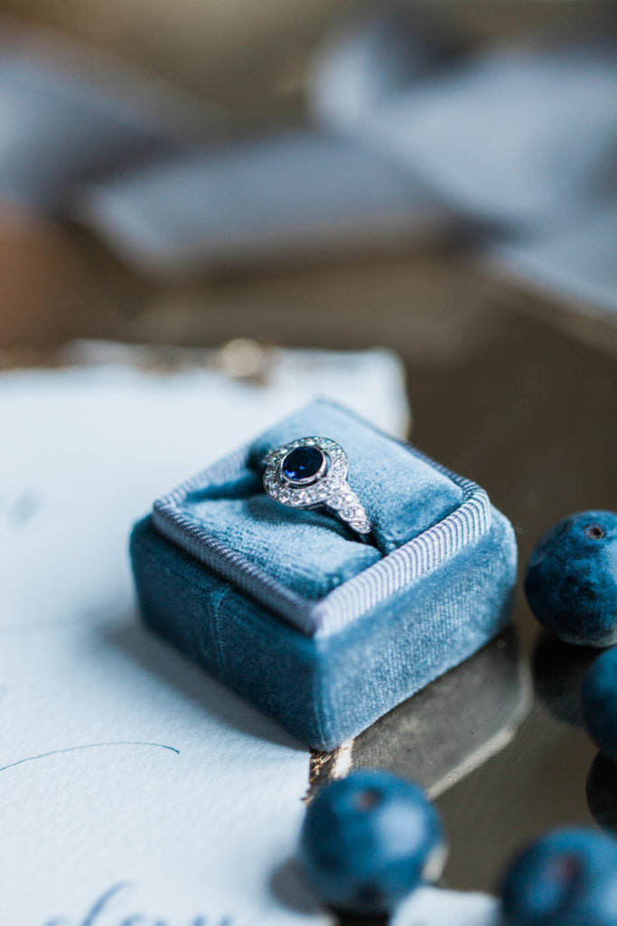 Sapphire cluster engagement ring | Made in London