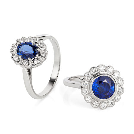 Sapphire Cluster Rings | Made in London