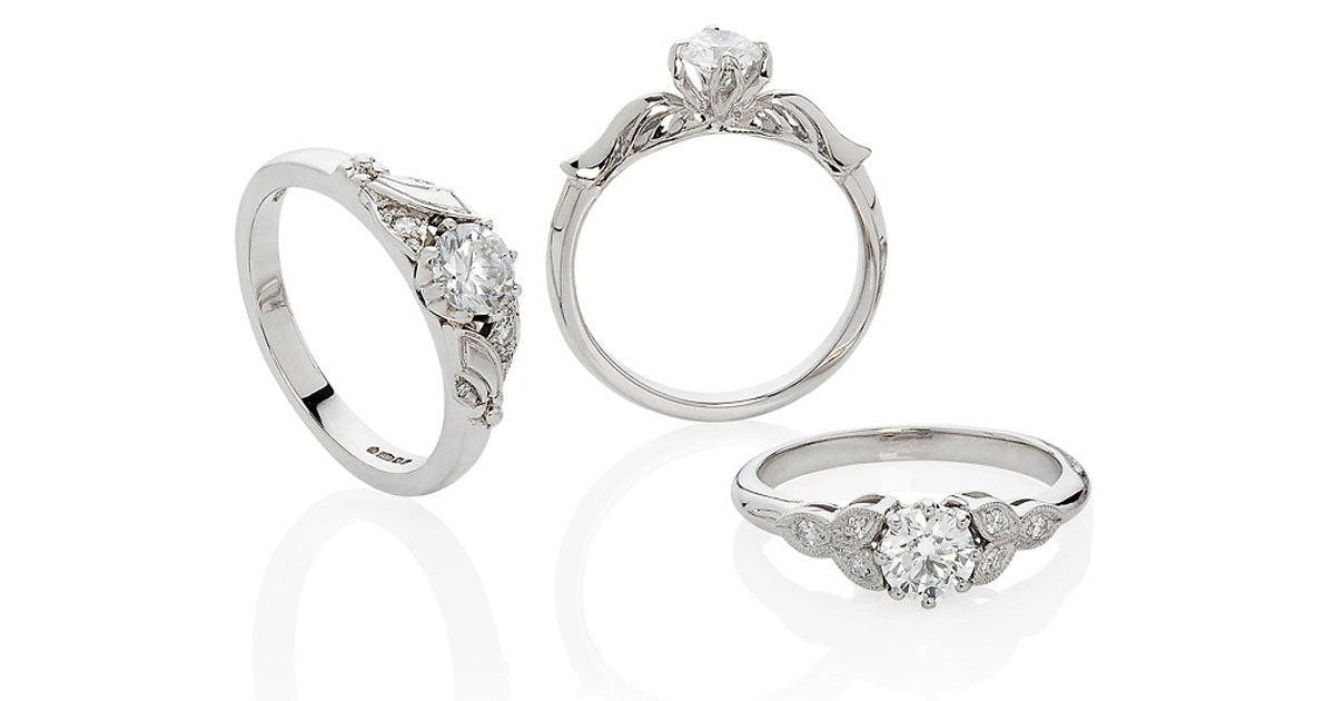 Flower Engagement Rings from London Victorian Ring Co