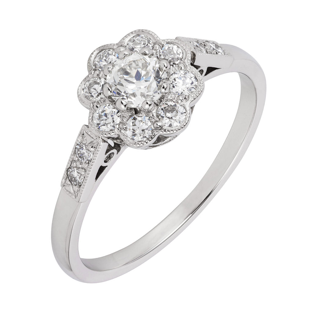 Daisy engagement ring a design from the early 1900s
