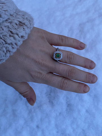 London Victorian Ring Co. Art Deco Style Engagement Ring