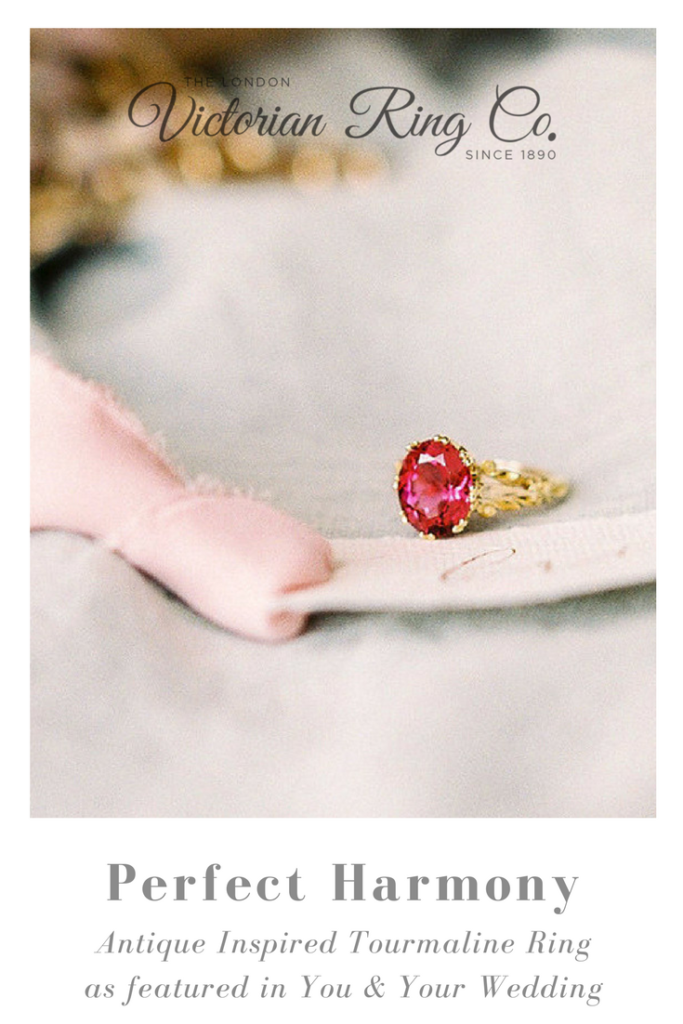 Antique Inspired Tourmaline Engagement Ring