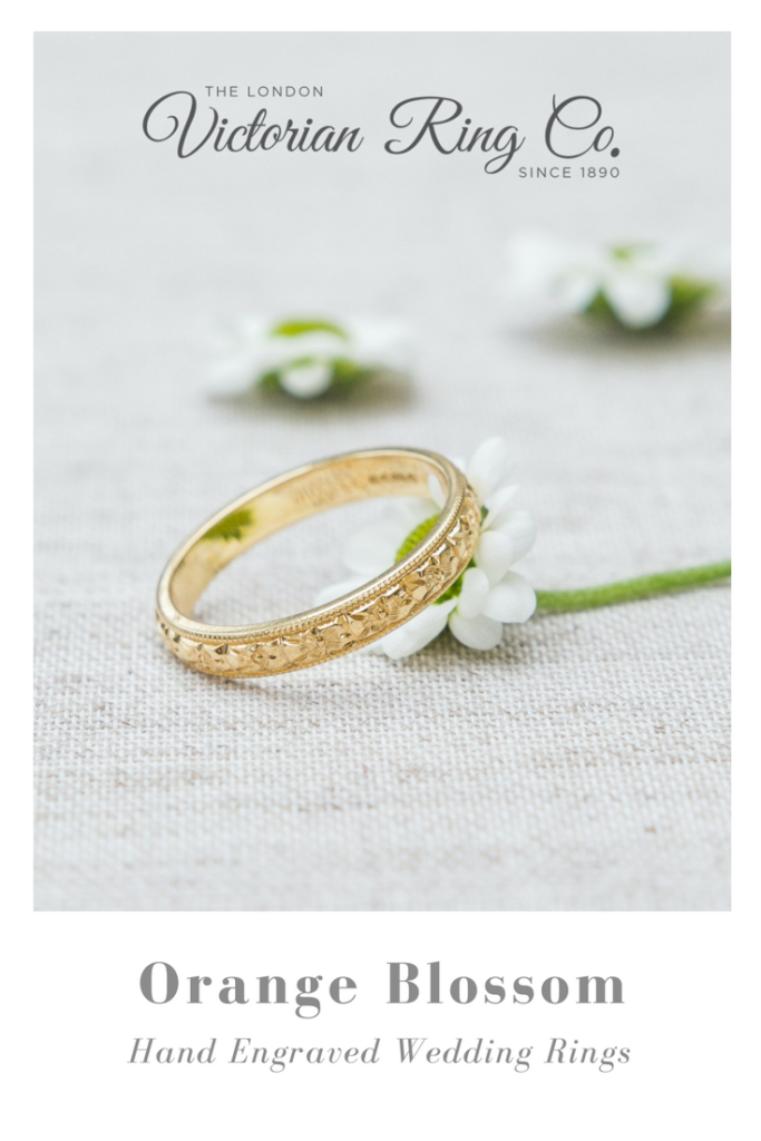 Orange Blossom Wedding Rings from London Victorian Ring Co