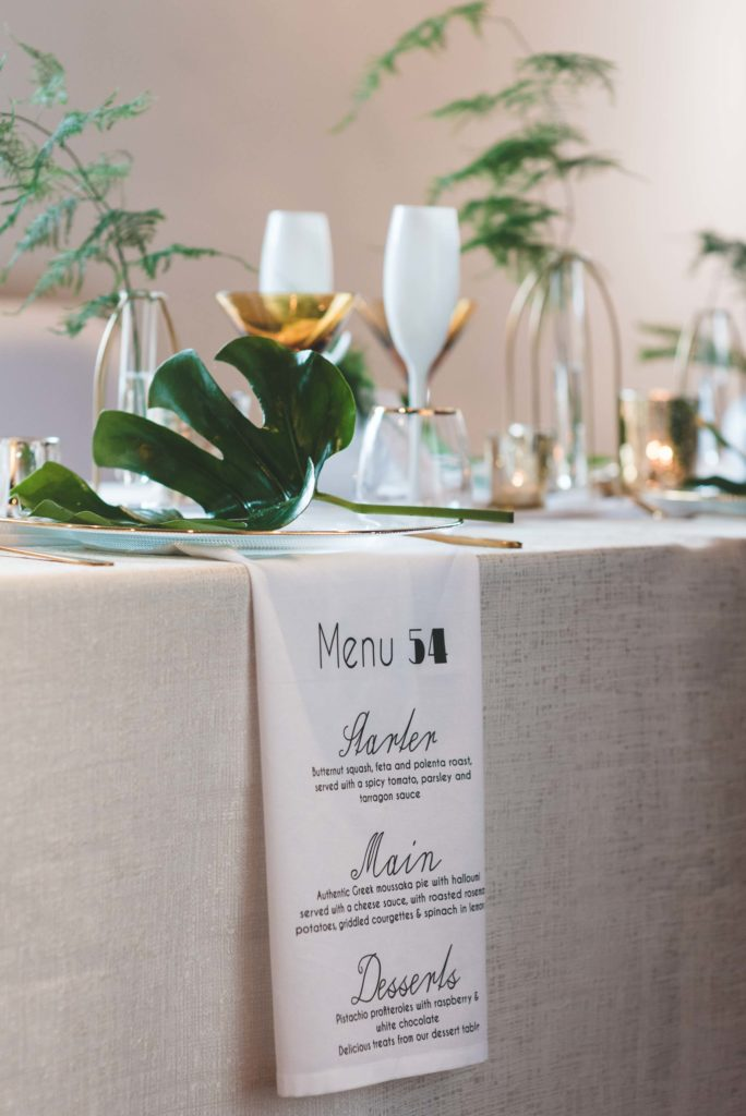 Wedding Menu on the Napkin created by Extra Special Touch