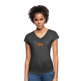 Women's V-Neck - deep heather