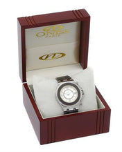 Load image into Gallery viewer, Oniss ON669-L/BRN PARIS Brand New Swiss Movement date Watch with 0ctw of Precious Stones - cubic zirconia and mother of pearl