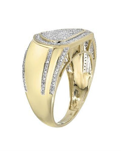 Brand New Ring with 0.5ctw diamond 10K Yellow gold