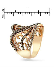 Load image into Gallery viewer, Brand New Ring with 1.01ctw of Precious Stones - diamond and diamond 18K Rose gold