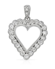 Load image into Gallery viewer, Brand New Pendant with 0.52ctw diamond 14K White gold