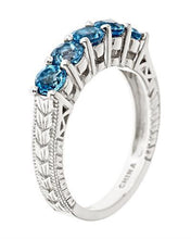 Load image into Gallery viewer, Brand New Ring with 1.5ctw topaz 925 Silver sterling silver