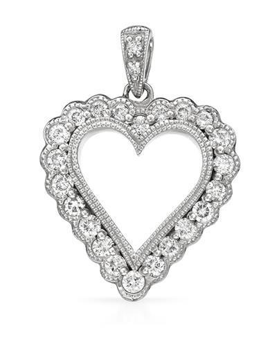 Brand New Pendant with 0.52ctw diamond 14K White gold
