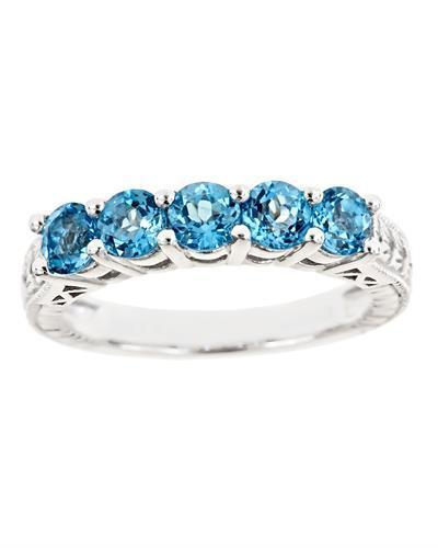 Brand New Ring with 1.5ctw topaz 925 Silver sterling silver