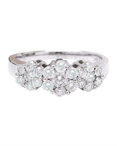 1.70 Carat Natural Diamond 14K Solid White Gold Ring