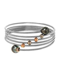 PEARL LUSTRE Brand New Bracelet with 0ctw pearl  Two tone Stainless steel