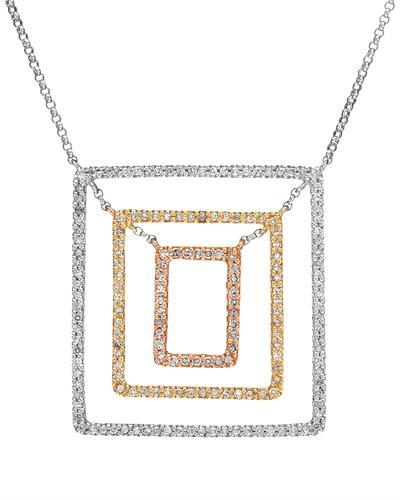 Brand New Necklace with 0.61ctw diamond 14K Three tone gold