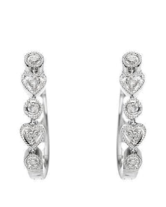 Brand New Earring with 0.05ctw diamond 14K White gold