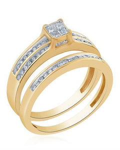 Brand New Ring with 0.45ctw of Precious Stones - diamond and diamond 14K Yellow gold