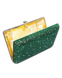 Dolli Lily Brand New Clutch with 0ctw crystal  Yellow base metal