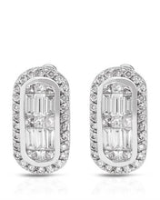 Load image into Gallery viewer, Brand New Earring with 1.13ctw of Precious Stones - diamond and diamond 14K White gold
