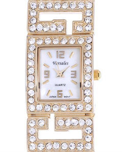 Varsales Brand New Japan Quartz Watch with 0ctw of Precious Stones - crystal and mother of pearl