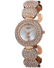 Load image into Gallery viewer, burgi BUR109 Brand New Swiss Quartz Watch with 0.01ctw of Precious Stones - crystal, diamond, and mother of pearl