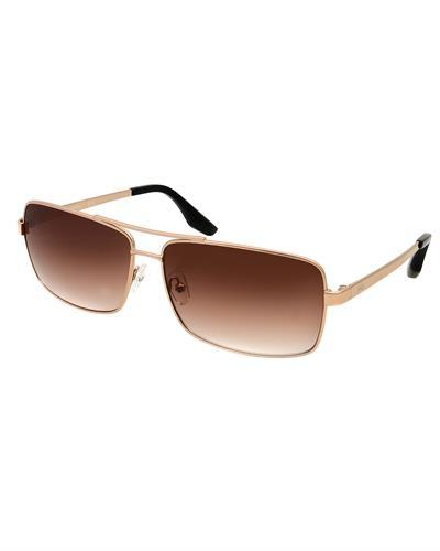 AQS ST003 Brown Steel Brand New Sunglasses  Gold metal