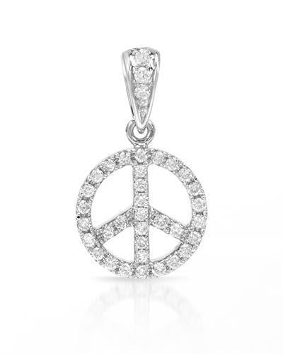 Brand New Pendant with 0.18ctw diamond 18K White gold
