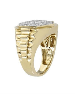 Brand New Ring with 1.42ctw diamond 10K Yellow gold