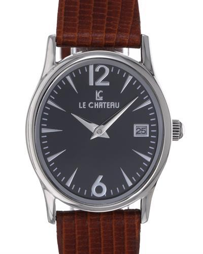 LC le Chateau LC-2678LBK Brand New Japan Quartz date Watch