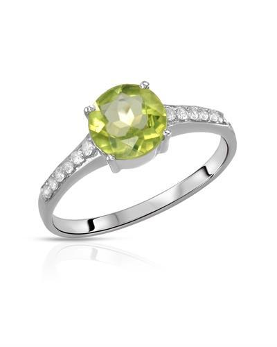Brand New Ring with 1.66ctw of Precious Stones - peridot and topaz 925 Silver sterling silver