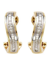 Load image into Gallery viewer, Brand New Earring with 0.5ctw diamond 14K Two tone gold