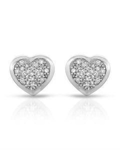 Brand New Earring with 0.14ctw diamond 14K White gold
