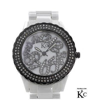 Load image into Gallery viewer, KC WA005232 Brand New Swiss Movement Watch with 0.5ctw of Precious Stones - crystal, diamond, and mother of pearl
