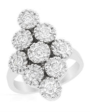 Load image into Gallery viewer, Brand New Ring with 1.15ctw diamond 14K White gold