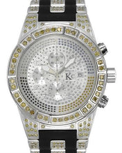 Load image into Gallery viewer, Techno Com by KC Brand New Japan Quartz date Watch with 5ctw diamond