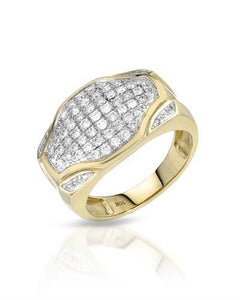 Brand New Ring with 0.96ctw diamond 10K Yellow gold