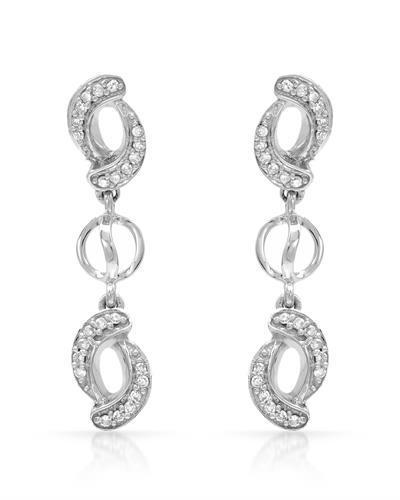 Whitehall Brand New Earring with 0.18ctw diamond 14K White gold