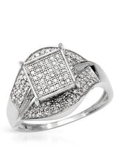 Load image into Gallery viewer, Lundstrom Brand New Ring with 0.65ctw diamond 10K White gold