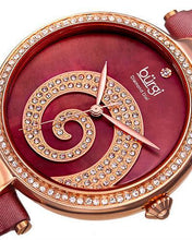 Load image into Gallery viewer, burgi BUR143BUR Brand New Quartz Watch with 0.01ctw of Precious Stones - crystal, diamond, and mother of pearl