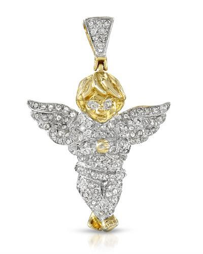 Brand New Pendant with 0.65ctw diamond 14K/925 Yellow Gold plated Silver