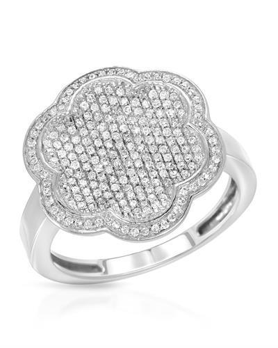 Lundstrom Brand New Ring with 0.55ctw diamond 14K White gold