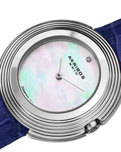 Akribos XXIV AK876SS Brand New Japan Quartz Watch with 0.01ctw of Precious Stones - diamond and mother of pearl