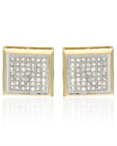 Lundstrom Brand New Earring with 0.4ctw diamond 14K Yellow gold