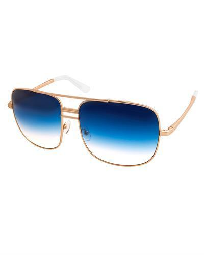 AQS LIA004 Blue Lia Brand New Sunglasses  Gold metal