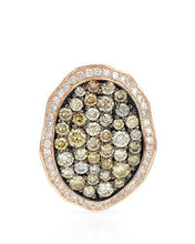 Load image into Gallery viewer, Brand New Pendant with 1.21ctw of Precious Stones - diamond and diamond 14K Rose gold