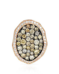 Brand New Pendant with 1.21ctw of Precious Stones - diamond and diamond 14K Rose gold
