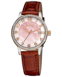 AUGUST Steiner AS8056 Brand New Swiss Quartz date Watch with 0ctw of Precious Stones - crystal and mother of pearl