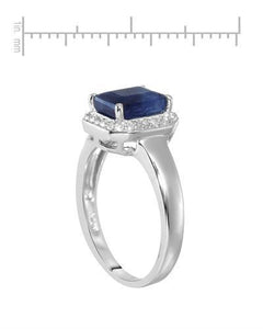 Brand New Ring with 2.63ctw of Precious Stones - sapphire and topaz 925 Silver sterling silver