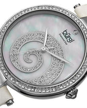 Load image into Gallery viewer, burgi BUR143WT Brand New Quartz Watch with 0.01ctw of Precious Stones - crystal, diamond, and mother of pearl